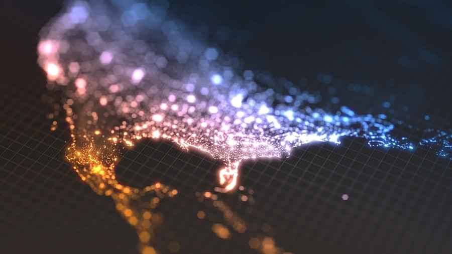 light map of us