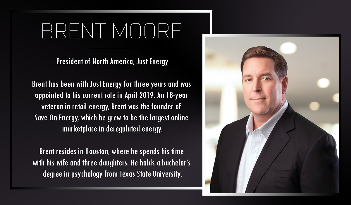 Brent Moore leads Just Energy's North American operations.